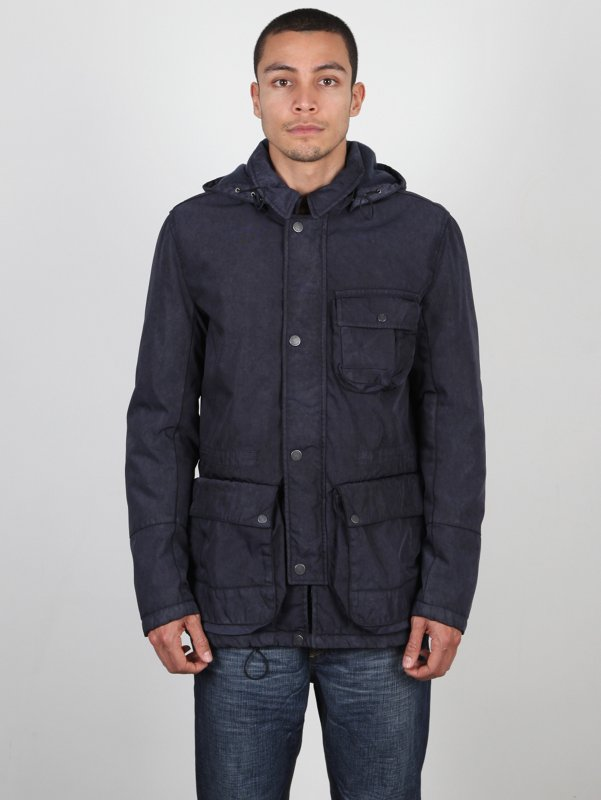 CP Company Detachable Goggle Hood Field Jacket In Blue