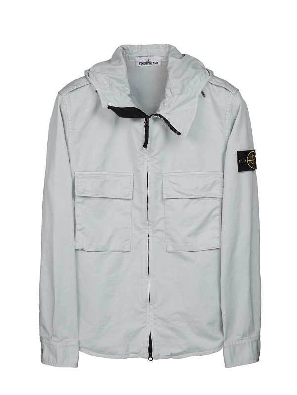 10211 HOODED OVERSHIRT IN ICE