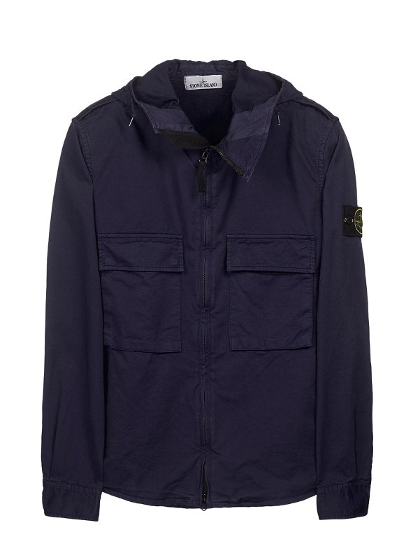 10211 HOODED OVERSHIRT IN INK