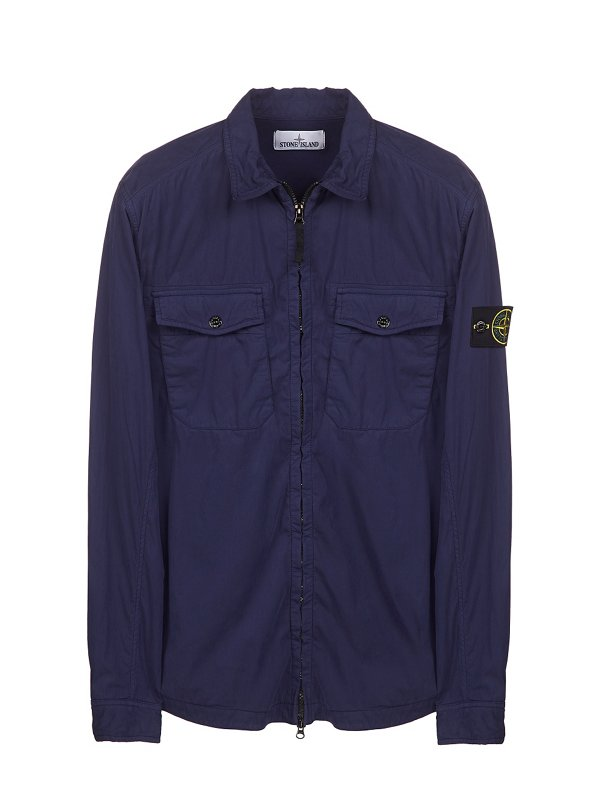 10317 EMERISED LONG SLEEVE OVERSHIRT IN BLUE