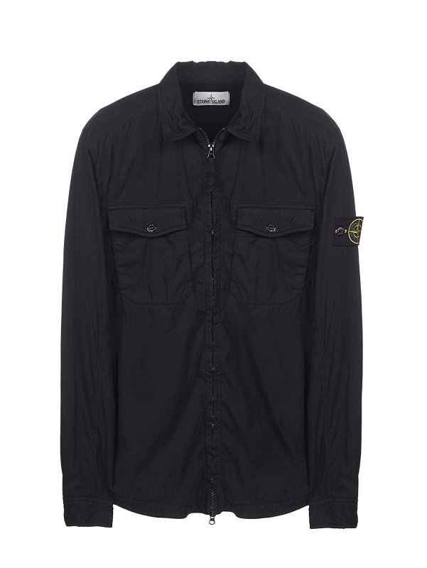 10317 EMERISED OVERSHIRT IN BLACK