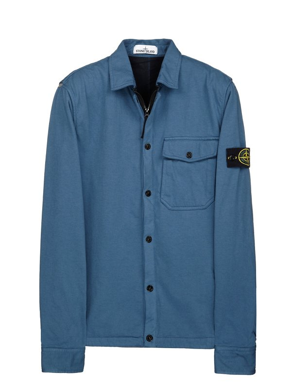 10510 COTTON/TYVEK®, JERSEY OVERSHIRT IN TEAL