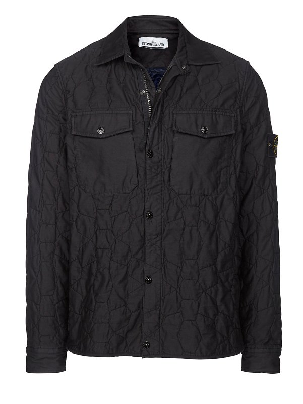 10608 PADDED COTTON OVERSHIRT IN BLACK