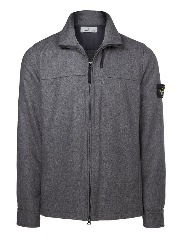 10751 MELANGE WOOL POLY BIONIC FINISH® OVERSHIRT IN GREY