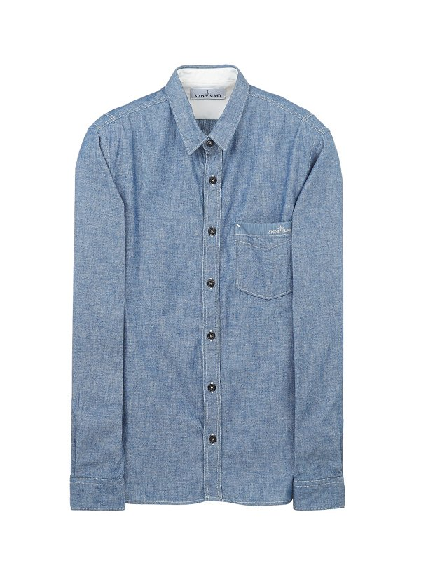 11207 CHAMBRAY SHIRT IN BLUE