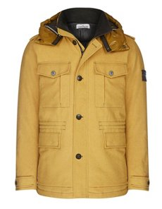 44599 ICE JACKET WOOL BLEND THERMO-SENSITIVE FABRIC FIELD JACKET IN YELLOW