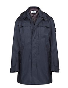 70325 3L PERFORMANCE COTTON MID-LENGTH JACKET IN NAVY BLUE