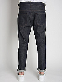 Acne Men's Jones Cut-Off Tapered Raw Denim Jeans
