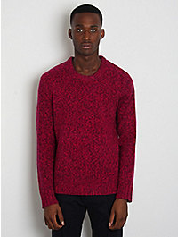 Acne Jeans Twist-Knitted Crew Neck Sweater