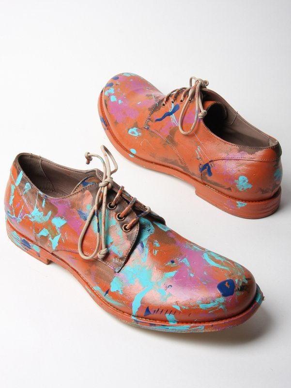 Alexander McQueen Calamity Paint Leather Shoe