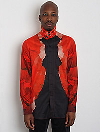 Alexander McQueen Men's Poppy Print Shirt