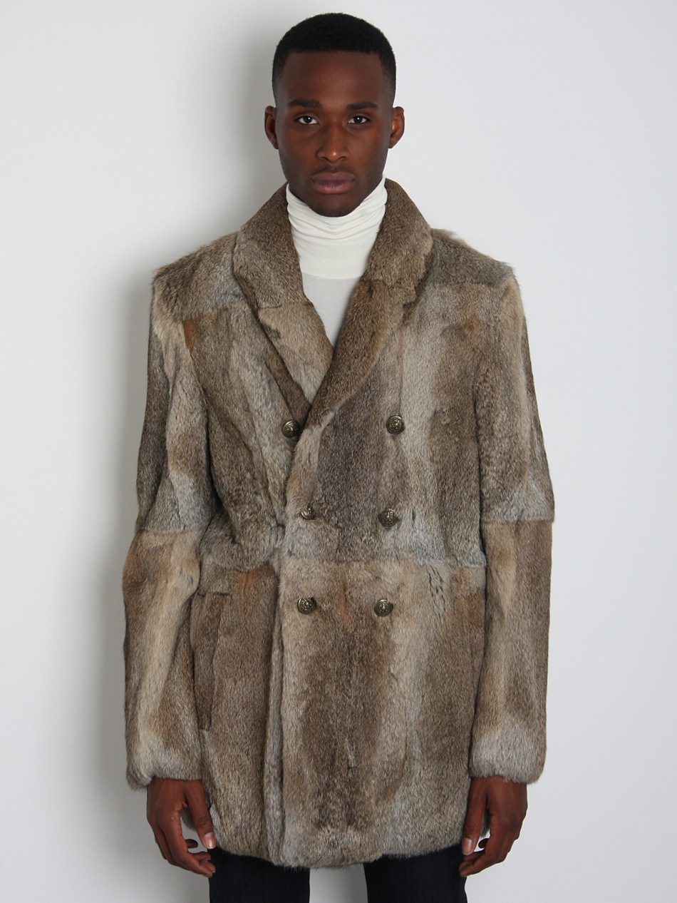 BAND OF OUTSIDERS RABBIT FUR COAT