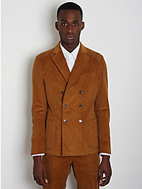 Band of Outsiders 3-Button Corduroy Double-Breasted Blazer