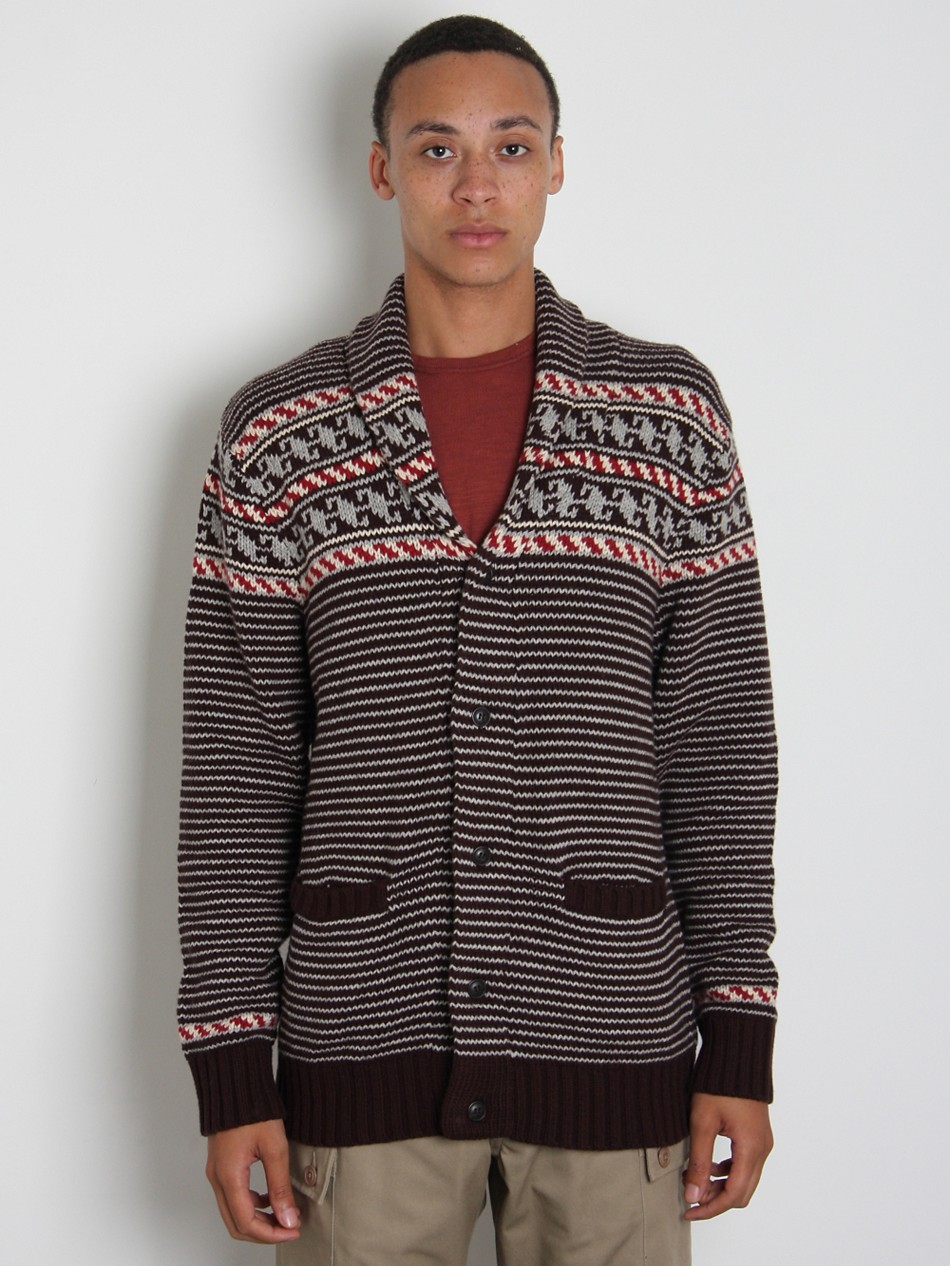 Burkman Brothers Men's Fair Isle Cardigan