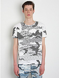 Christopher Shannon Multi Print Crop T-Shirt