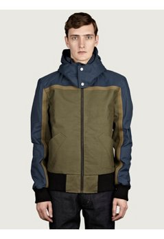 Men's Remade Military Fabric Bomber Jacket