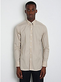 E Tautz Button-Down Collar Slim-Fit Shirt