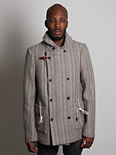 Folk Men's Double Breasted Wool Overcoat