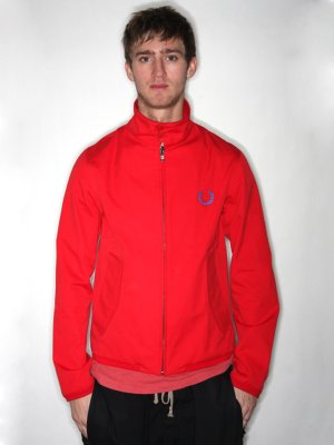 Red Fred Perry Harrington Jacket