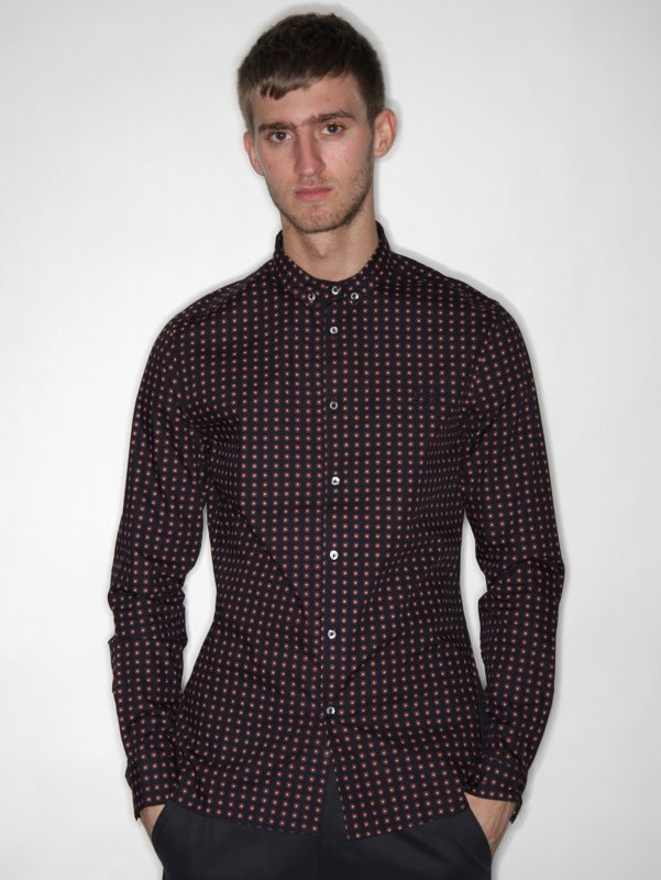 Fred Perry Long Sleeve Printed Shirt