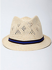 Fred Perry Laurel Men's Straw Trilby Hat