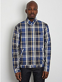 Fred Perry Laurel Men's Harrington Shirt Jacket W/ Madras Check 1