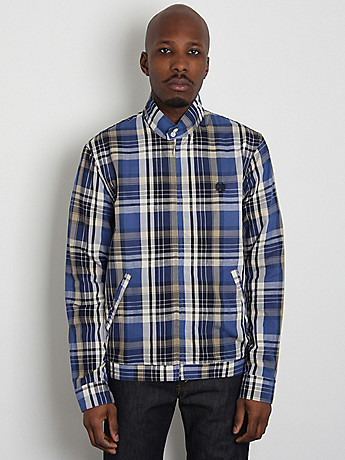Fred Perry Laurel Wreath Harrington Shirt Jacket: Madras Check