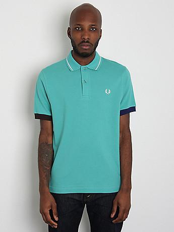 Fred Perry Club Stripe Pique Shirt M7135