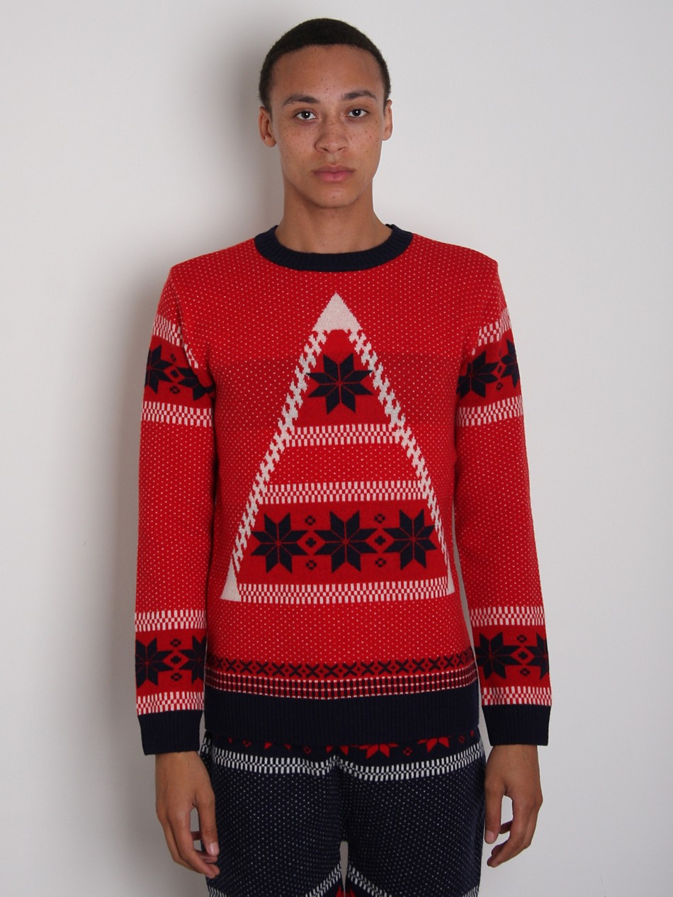 General Idea Men's Patterned Crew Neck Jumper