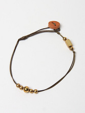 Hobo Brass Nylon Wax Cord Bracelet