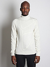 Jil Sander Men's Patchwork Wool Sweater