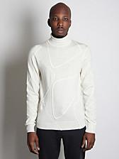 Jil Sander Men's Patchwork Wool Sweater