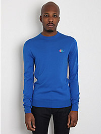 Jil Sander Men's Crew Neck Knitted Appliqué Jumper