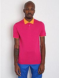 Jil Sander Men's Contrast Collar Polo Shirt