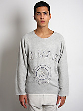 J.W.Anderson Hand Embroidered J.W.A Varsity Jumper