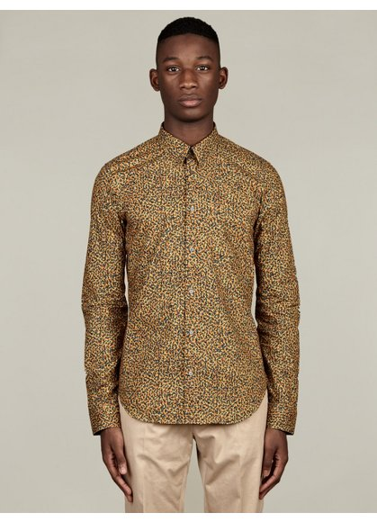 Men's Floral Print Cotton Shirt