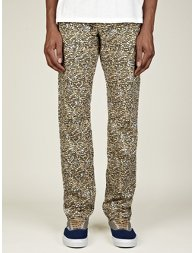Men's Leopard Print Regular Jeans