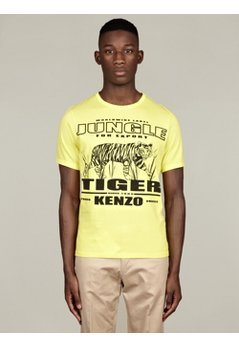 Men's Yellow Jungle Tiger Cotton T-Shirt
