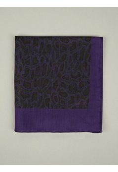 Men's Purple Snakeskin Print Cotton Scarf