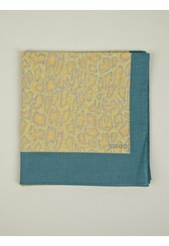 Men's Yellow Snakeskin Print Cotton Scarf