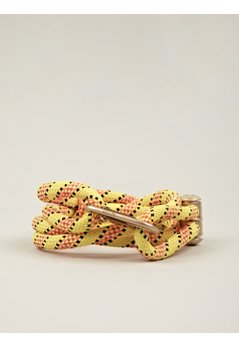 Men's 8mm Yellow Nylon Cord Belt