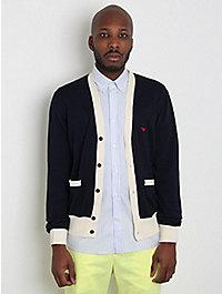 Kitsune Classic Bi-Colour Cardigan