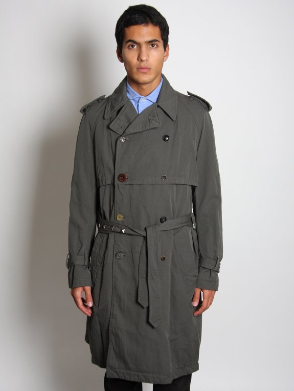 kolor Men's Woven Trench Coat