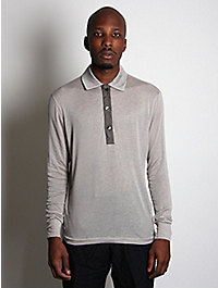 kolor Men's Long Sleeved Cashmere Mix Polo