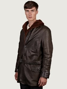 Levi's Vintage Clothing Sheepskin Leather Coat