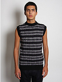 Lou Dalton Fairisle Knit Crewneck Tank Top