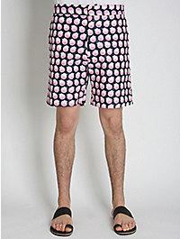 Lou Dalton Textured Pink Spot Short