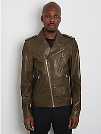 Marc Jacobs Men's Lambskin Leather Sports Jacket