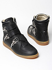 Maison Martin Margiela 22 Waxed Leather Baseball Trainers