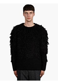 Men's Alpaca-Wool Shearling Knit